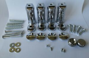 Set of UNIVERSAL brackets for Heated towel RAIL radiator Flat/Curved Chrome UK