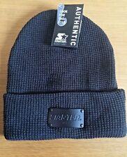 Gorro auténtico Starter Black Label con etiqueta de metal gris Lanudo Sombrero del Invierno