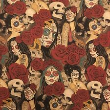 "ALEXANDER HENRY  Nocturna Dark Tint Fabric Sold by HALF METRE W44"""