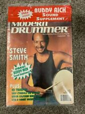 *SEALED* MODERN DRUMMER MAGAZINE STEVE SMITH RARE JOURNEY FEB 1993 MINT