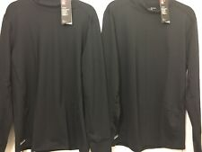 Under Armour Lot Of 2 ColdGear Base Layer Fitted Mock Shirt men Xl,BlackTactical