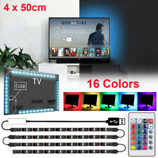 6.5ft USB LED Strip Light RGB TV Back Lighting Computer Background Cabinet Lamp