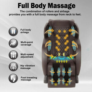 LUXURY BEST SPACE CAPSULE  Shiatsu Zero Gravity Massage LED HQ Chair Heat,Music,
