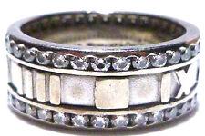 2000 TIFFANY & CO 18K WHITE GOLD ATLAS ROMAN 1.31CT DIAMOND ETERNITY RING BAND