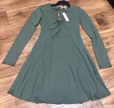 New GB Dress Gianni Bini Juniors Long Sleeve Green Size XS X-Small Tie Front