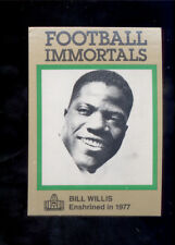 1985 Immortals BILL WILLIS Cleveland Browns Hall of Fame Card