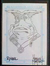"""Farscape """"Rygel"""" SKETCHAFEX Card by Warren Martinez"""