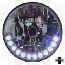"LHD 7"" Round LED DRL style Headlights for Austin Mini Morris van cooper/s pickup"