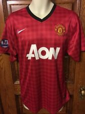 Manchester United AON Authentic NIKE Dri-Fit Soccer JERSEY, Mens Size XL