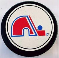 QUEBEC NORDIQUES VINTAGE GENERAL TIRE D2 SLUG NHL MADE IN CANADA GAME PUCK
