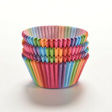 100Pcs Colorful Rainbow Paper Cake Cupcake Liners Baking Muffin Cup Cases PartyX