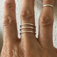 Sterling Silver Plain Cuff Ring, Silver Ring, Rings, Silver Band