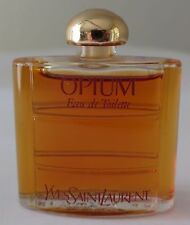 Vintage Miniature 0.26 oz. OPIUM Eau De Toilette Yves St Laurent Perfume Bottle