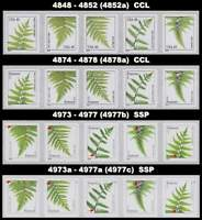Ferns Complete 4 Strips 4848-52 4874-78 4973-77 4973a-77a All 20 MNH - Buy Now