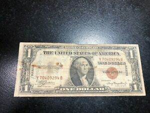1935 ONE DOLLAR SILVER CERTIFICATE HAWAII NOTE~SHORT SNORTER FROM PEARL HARBOR