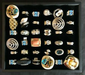 Jewelry Lot RINGS 36pc Womens Fashion Costume SIGNED NEW Wear Sell CAMILLE LUCIE