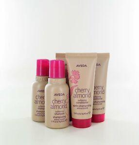 AVEDA Cherry Almond Softening Shampoo & Conditioner (Pack of 3) 1.7/1.4 fl oz