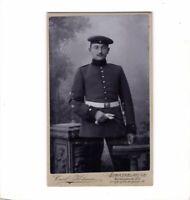 CDV Foto Soldat mit Ärmelabzeichen - Strassburg 1900er