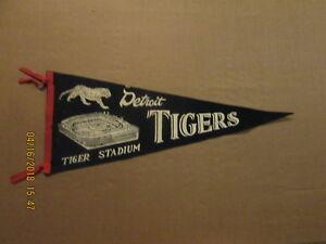 MLB Detroit Tigers Vintage Circa 1960's TIGER STADIUM Logo Baseball Pennant