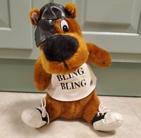 "Vintage Scooby Doo Dog Gangster 12"" Tall Bling Bling Stuffed Animal Plush - RARE"