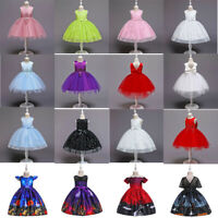 Flower Girl Tutu Dress Princess Party Wedding Bridesmaid Formal Gown Dress LOT