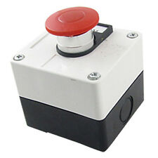 600V 10A Momentary Switch Red Green Mushroom Push Button Station G9B5