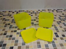 "Tupperware Frische Behälter Cubix ""Sonnenkuss"" gelb (2) je 1,0 l NEU"