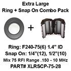 Palomar Engineers Extra Large Ferrite Ring/Multi-Snap On Combo Pack, Mix 75, RFI