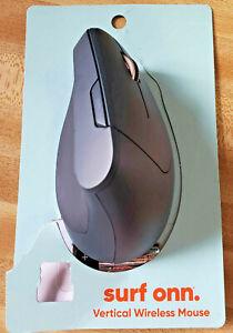 NEW Open Box Surf Onn USB Vertical Wireless Mouse Ergonomic Upright