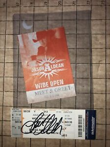 JASON ALDEAN SIGNED AUTO CONCERT TICKET MEET GREET BACKSTAGE PASS 2009 COUNTRY