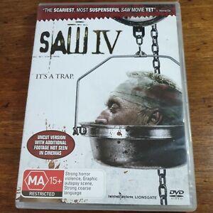 Saw IV 4 DVD R4 LIKE NEW FREE POST