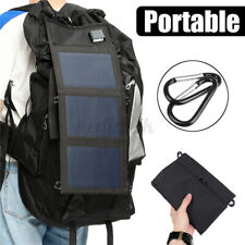 30/50W Folding Solar Panel USB Phone Battery Charger Power Bank Camping Hiking
