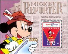 Antigua 1993 Euro Disney/Cartoons/Animation/Mickey/Newspaper 1v m/s (b1480p)