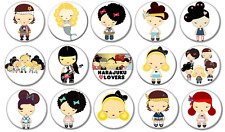 """HARAJUKU LOVERS - Lot of 15 Pin Back 1"""" Buttons BADGES (One Inch)"""