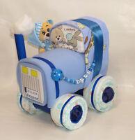 Windelbulldog Schnullerkette Traktor Windeltraktor rosa Windeltorte