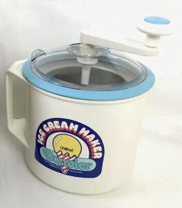 Vintage DONVIER 2-Pint Ice Cream Maker Hand Crank Chillfast Frozen Yogurt Sorbet