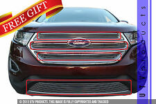 GTG 2015 - 2017 Ford Edge 4PC Polished Overlay Combo Billet Grille Grill Kit