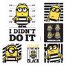 Minions Stickers x 6  Birthday Party Supplies Favours Loot Despicable Me Sticker