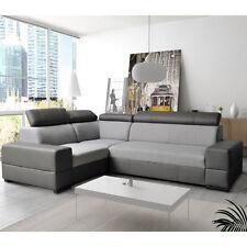 Corner Sofa Bed BOLZANO with Storage Container Adjustable Headrests New