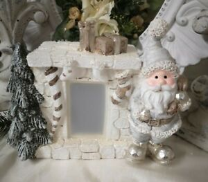Christmas Decoration Santa Claus At Chimney LED Shabby Vintage Landhaus