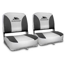 Seamanship Set of 2 Folding Swivel Boat Seats - Grey Warranty Fast & Free Post