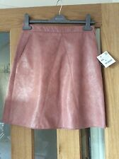 nude pink faux leather skirt xs extra small  from zara brand new with tags