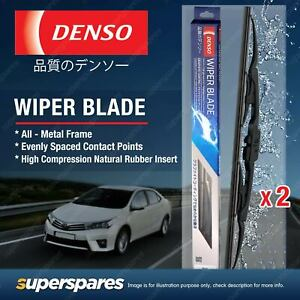 Pair Front Denso Wiper Blades for Lexus IS 300h AVE30 200t ASE30 350 GSE31