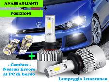 LAMPADE ANABBAGLIANTI CREE LED + T10 POSIZIONI PER VW SCIROCCO 2008+