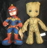 """Baby Groot & Captain Marvel 14"""" plush toys. two for the price of one."""