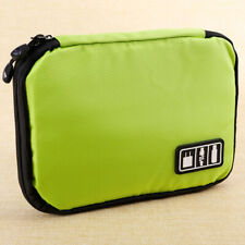 Green Travel Cable Organizer Bags Waterproof IPad Accessories Case Holder
