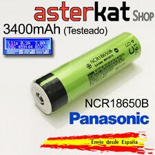 Pila Recargable 18650 PANASONIC 3400mAh 3,6V Original Batería NCR18650B Litio