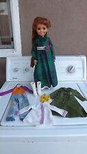 """Crissy Doll, Ideal Co. 1970's 18"""" Original Outfit plus 2 Outfits & Shoes"""