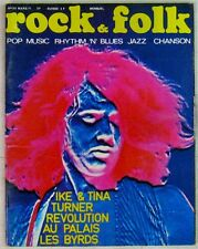 Revue Rock & Folk Mars 1971 Ike & Tina Turner Byrds