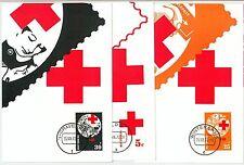 63596  -  NETHERLANDS - POSTAL HISTORY: Set of 6 MAXIMUM CARD 1972 -  RED CROSS